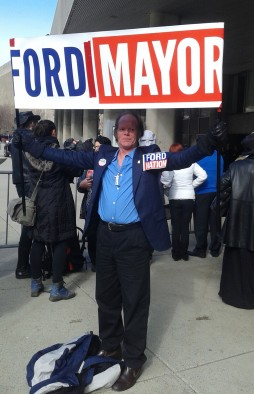 "Kenny Neville is a long-time Rob Ford supporter and a proud member of 'Ford Nation.' Neville said he was at the funeral procession to ""honour the King of all kings."""